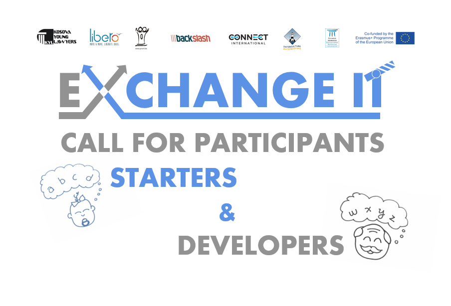 CALL FOR PARTICIPANTS – Starters and Developers Trainings