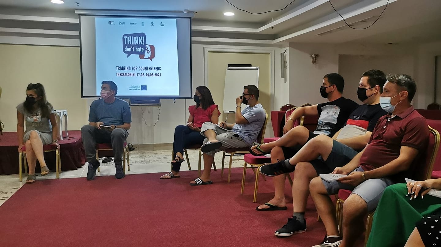 """Training for Counterizers """"Think! Don't Hate"""" implemented in Thessaloniki, Greece"""